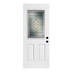 ReliaBilt Laurel Fiberglass Prehung Entry Door (Common: 36-in x 80-in; Actual: 37.5-in x 81.75-in)