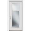 ReliaBilt French Insulating Core Blinds Between The Glass Full Lite Right-Hand Inswing Primed White Steel Prehung Entry Door (Common: 36-in x 80-in; Actual: 37.5-in x 81.75-in)