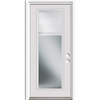 ReliaBilt French Insulating Core Blinds Between The Glass Full Lite Left-Hand Inswing Primed White Steel Prehung Entry Door (Common: 36-in x 80-in; Actual: 37.5-in x 81.75-in)