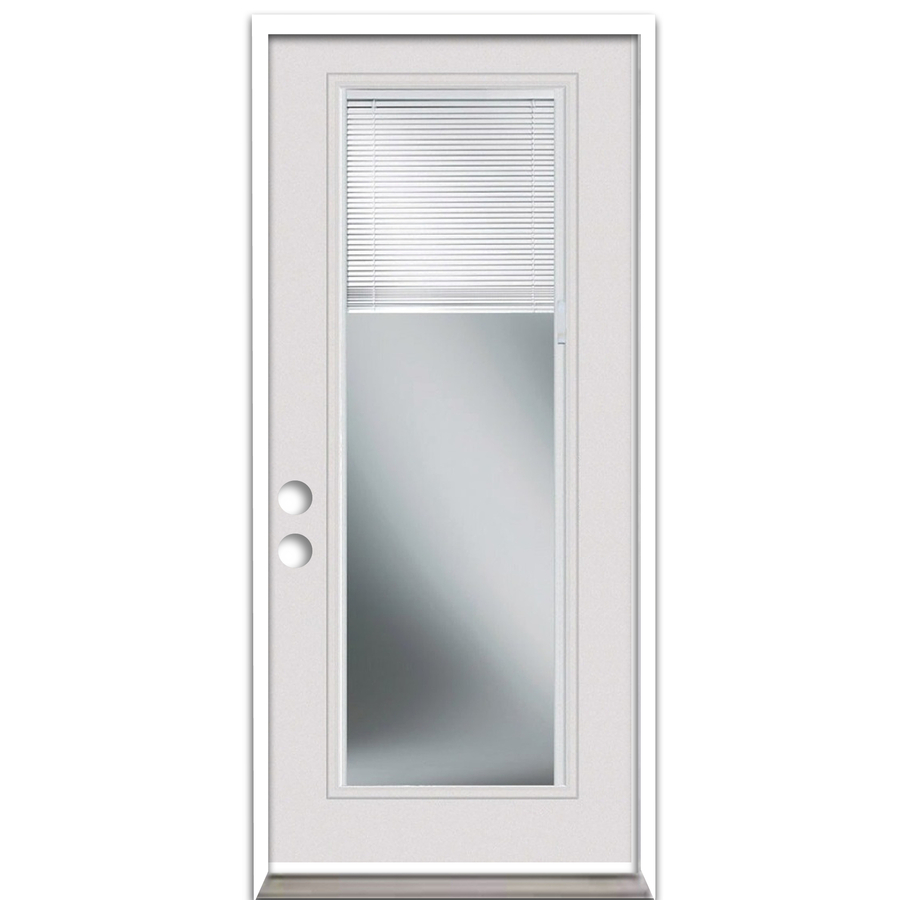 Shop reliabilt blinds between the glass full lite prehung for Steel entry doors