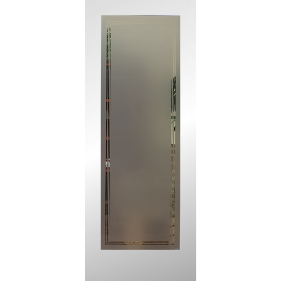 Shop reliabilt 1 lite solid core no skin non bored frosted interior slab door common 24 in x Interior doors frosted glass