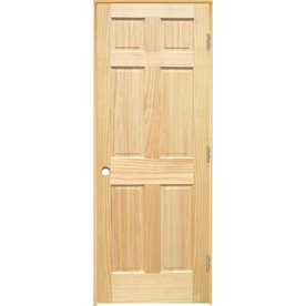 Shop Reliabilt 6 Panel Solid Core Smooth Pine Left Hand Interior Single Prehung Door Common 36