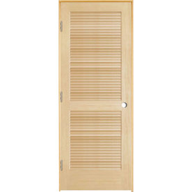 Shop Reliabilt Prehung Full Louver Pine Interior Door Common 30 In X 80 In Actual 31 5 In X