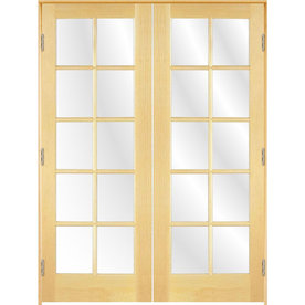 Shop ReliaBilt Prehung 10 Lite Pine French Interior Door