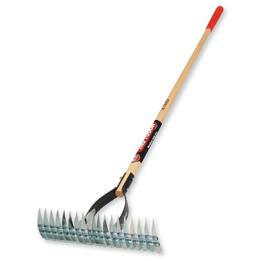 Shop Tru Tough 54 In L Wood Handle Steel Garden Rake At Lowes Com