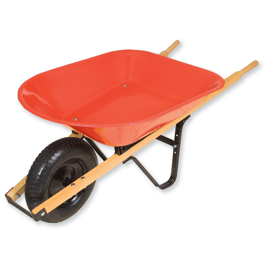 Shop Truper 4-cu ft Steel Wheelbarrow at Lowes.com