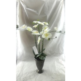 22-in White Artificial Plant
