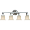 Pyramid Creations 4-Light Bel Air Satin Nickel Bathroom Vanity Light