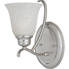 Pyramid Creations 6-1/2-in W Piedmount 1-Light Nickel Arm Wall Sconce