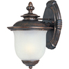 Pyramid Creations 10-in H Chocolate Outdoor Wall Light