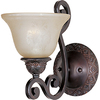 Pyramid Creations 7-in W Symphony 1-Light Bronze Arm Wall Sconce