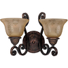 Pyramid Creations 16-in W Symphony 2-Light Bronze Arm Wall Sconce