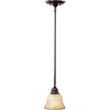 Pyramid Creations 6-in W Linda Bronze Pendant Light