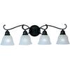 Pyramid Creations 4-Light Linda Ee Oil-Rubbed Bronze Bathroom Vanity Light