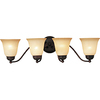 Pyramid Creations 4-Light Basix Oil-Rubbed Bronze Bathroom Vanity Light