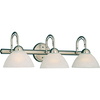 Pyramid Creations 3-Light Spectra Satin Nickel Bathroom Vanity Light