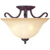 Pyramid Creations 14-in W Oil-Rubbed Bronze Frosted Glass Semi-Flush Mount Light