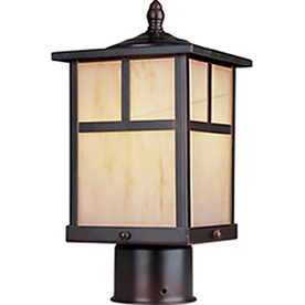 Pyramid Creations 12-in H Burnished Outdoor Wall Light