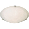 Pyramid Creations 16-in W Satin-Nickel Ceiling Flush Mount