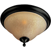 Pyramid Creations 16-in W Oil-Rubbed Bronze Ceiling Flush Mount