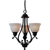 Pyramid Creations Linda Ee 19-in 3-Light Oil-Rubbed Bronze Tinted Glass Standard Chandelier