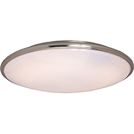 Pyramid Creations 17-in W Satin-Nickel Ceiling Flush Mount