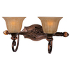 Pyramid Creations 2-Light Dresden Filbert Bathroom Vanity Light