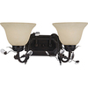 Pyramid Creations 2-Light Elegante Oil-Rubbed Bronze Bathroom Vanity Light