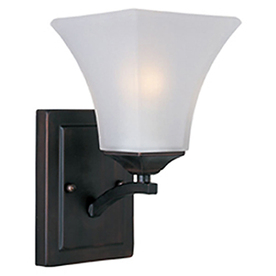 Pyramid Creations Aurora 5.5-in W 1-Light Bronze Arm Hardwired Wall Sconce