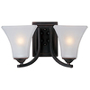Pyramid Creations 2-Light Aurora Oil-Rubbed Bronze Bathroom Vanity Light