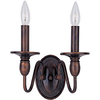 Pyramid Creations 10-in W Towne 2-Light Bronze Arm Wall Sconce
