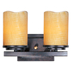 Pyramid Creations 2-Light Luminous Rustic Ebony Bathroom Vanity Light