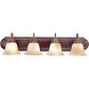Pyramid Creations 4-Light Essentialss Oil-Rubbed Bronze Bathroom Vanity Light
