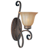 Pyramid Creations 7-in W Fremont 1-Light Arm Wall Sconce