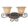 Pyramid Creations 2-Light Fremont Platinum Dusk Bathroom Vanity Light