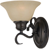 Pyramid Creations 7-1/2-in W Pacific 1-Light Bronze Arm Wall Sconce