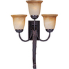 Pyramid Creations 16-1/2-in W Aspen 3-Light Bronze Arm Wall Sconce