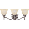 Pyramid Creations 3-Light Soho Satin Nickel Bathroom Vanity Light
