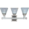 Pyramid Creations 3-Light Brentwood Satin Nickel Bathroom Vanity Light