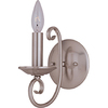 Pyramid Creations 5-in W Loft 1-Light Nickel Arm Wall Sconce