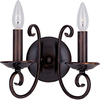 Pyramid Creations 10-in W Loft 2-Light Bronze Arm Wall Sconce