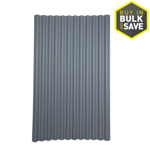 Corrugated Metal Panels Pricing : Ondura red gray corrugated roof panel from lowes panels