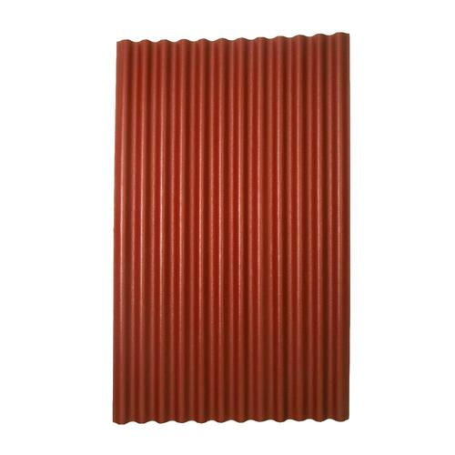 Corrugated Tin Lowe S : Ondura red gray corrugated roof panel from lowes panels
