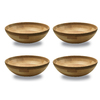 Snow River Products 2.25-in x 8-in Maple/Cherry Not Divided Wood Round Serving Platter
