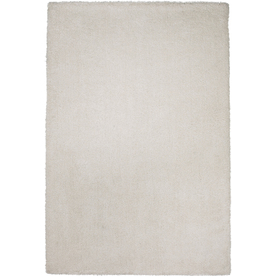 Sofia Ivory Rectangular Indoor Shag Throw Rug (Common: 2 x 4; Actual: 27-in W x 45-in L)