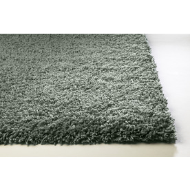 Sofia Blue Rectangular Indoor Shag Area Rug (Common: 5 x 8; Actual: 60-in W x 84-in L)