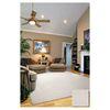 Sofia White Rectangular Indoor Shag Area Rug (Common: 8 x 10; Actual: 90-in W x 114-in L)