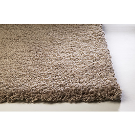 Sofia Shag Beige Rectangular Indoor Shag Area Rug (Common: 8 x 10; Actual: 90-in W x 114-in L)