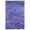 KAS Rugs Sofia Shag Purple Rectangular Indoor Shag Throw Rug (Common: 2 x 4; Actual: 27-in W x 45-in L x 0-ft Dia)