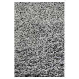 KAS Rugs Sofia Shag Grey Rectangular Indoor Shag Throw Rug (Common: 3 x 5; Actual: 39-in W x 63-in L x 0-ft Dia)